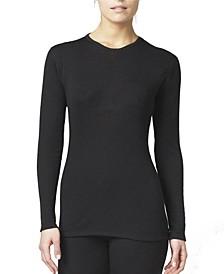 Women's 2 Layer Wool Blend Long Sleeve Crew Neck Shirt