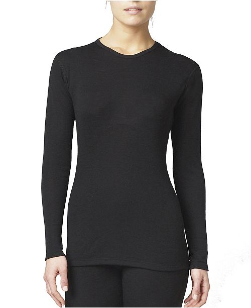 Stanfield's Women's 2 Layer Wool Blend Long Sleeve Crew Neck Shirt