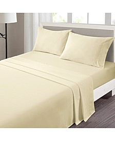 Indulgence Solid Microfiber 4-Piece Queen Sheet Set