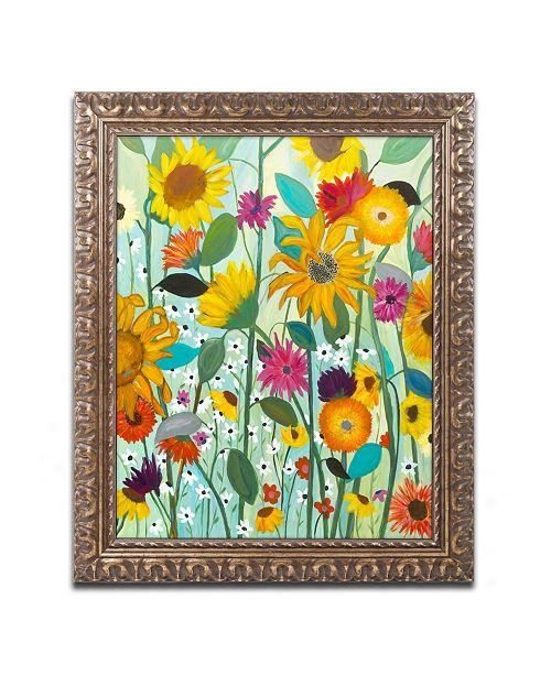 """Trademark Global Carrie Schmitt 'Sunflower House' Ornate Framed Art - 16"""" x 20"""""""