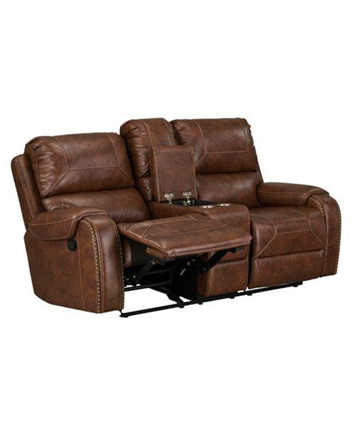 Furniture Winslow Manual Motion Glider Recliner Loveseat