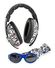 Baby Boys and Girls Earmuff Sunglasses Combos