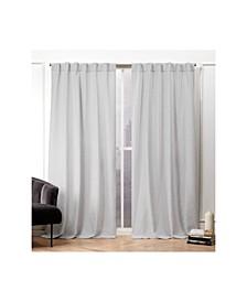 "Textured Matelasse Hidden Tab Top Curtain Panel Pair, 50"" X 84"""