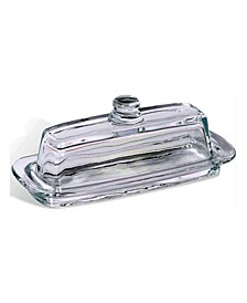 Crystal French Butter Dish with Handle and Lid