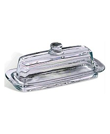Bezrat Crystal French Butter Dish with Handle and Lid