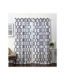 Exclusive Home Curtains Kochi Linen Blend Hidden Tab Top Curtain Panel Pair