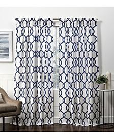 Exclusive Home Curtains Kochi Linen Blend Pinch Pleat Curtain Panel Pair