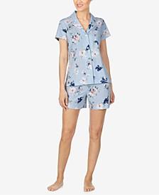 Floral-Print Cotton Pajama Set
