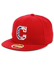 New Era Cleveland Indians Retro 2009 Stars and Stripes 59FIFTY Fitted Cap