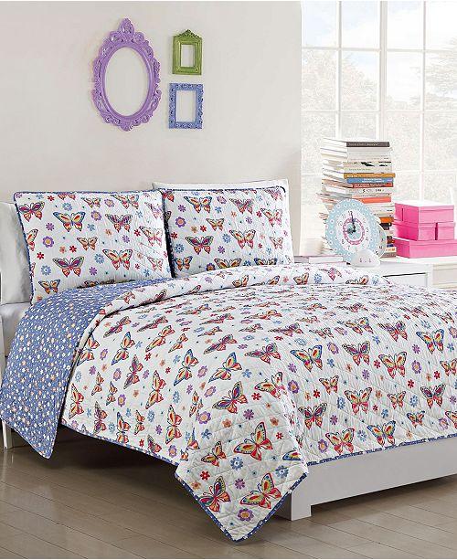 American Home Fashion Kids Zone Delila 2 Piece Quilt Set, Twin