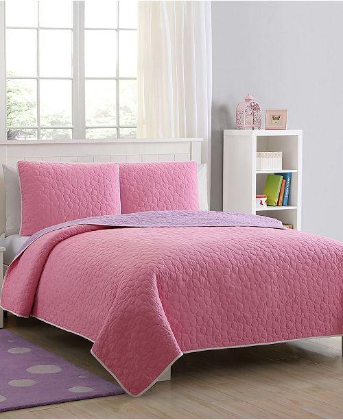 American Home Fashion Kids Zone Tess Reversible Quilt Set