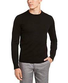 Men's Solid Crew-Neck Sweater