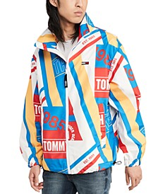 Men's Printed Logo Windbreaker, Created for Macy's
