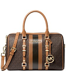 Michael Michael Kors Bedford Travel  Leather Duffle Satchel
