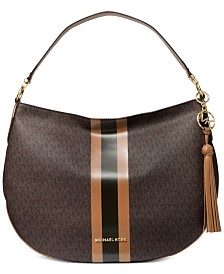 Michael Michael Kors Brooke Leather Zip Hobo