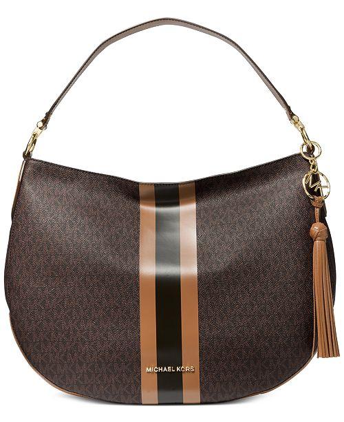 Michael Kors Brooke Leather Zip Hobo & Reviews Handbags