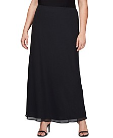 Plus Size Evening Maxi Skirt