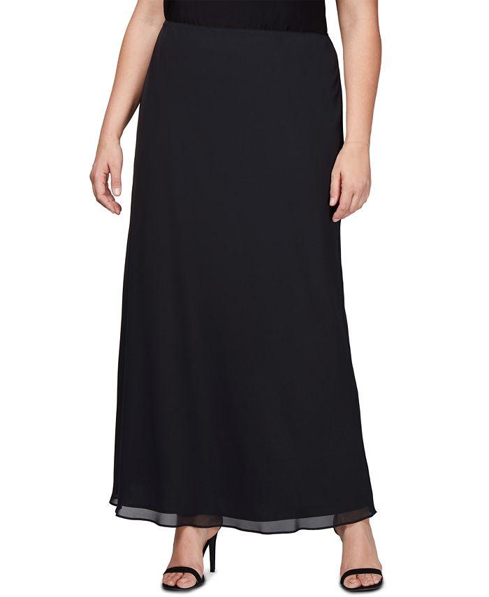Alex Evenings - Plus-Size Maxi Skirt