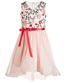 Sequin Hearts Big Girls Plus Size Embroidered High-Low Dress