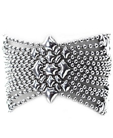 "B Silver Mesh Bracelet in 7"", 7 1/2"" or 8"""