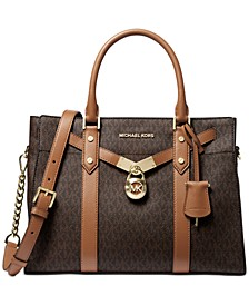 Signature Nouveau Hamilton Large Leather Satchel