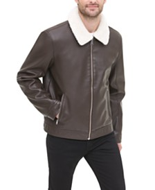 Tommy Hilfiger Men's Faux-Leather Jacket