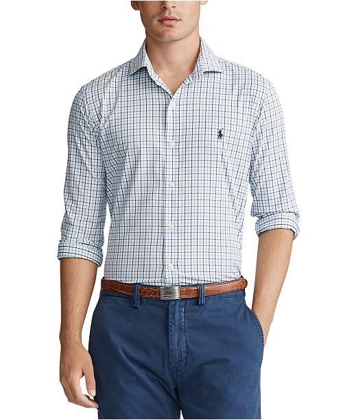 Polo Ralph Lauren Men's Big & Tall Performance Twill Sport Shirt