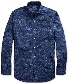 Men's Printed Poplin Sport Shirt