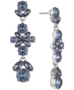 d004ee64cc78b Crystal Linear Drop Earrings in Blue