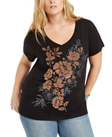 Style & Co Plus Size Floral-Print Dress, Created for Macy's