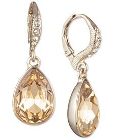 Crystal Pear-Shaped Drop Earrings