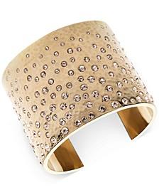 Gold-Tone Pavé Statement Cuff Bracelet
