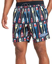 "Men's Jordan Paddle Print 6.5"" Swim Trunks, Created for Macy's"