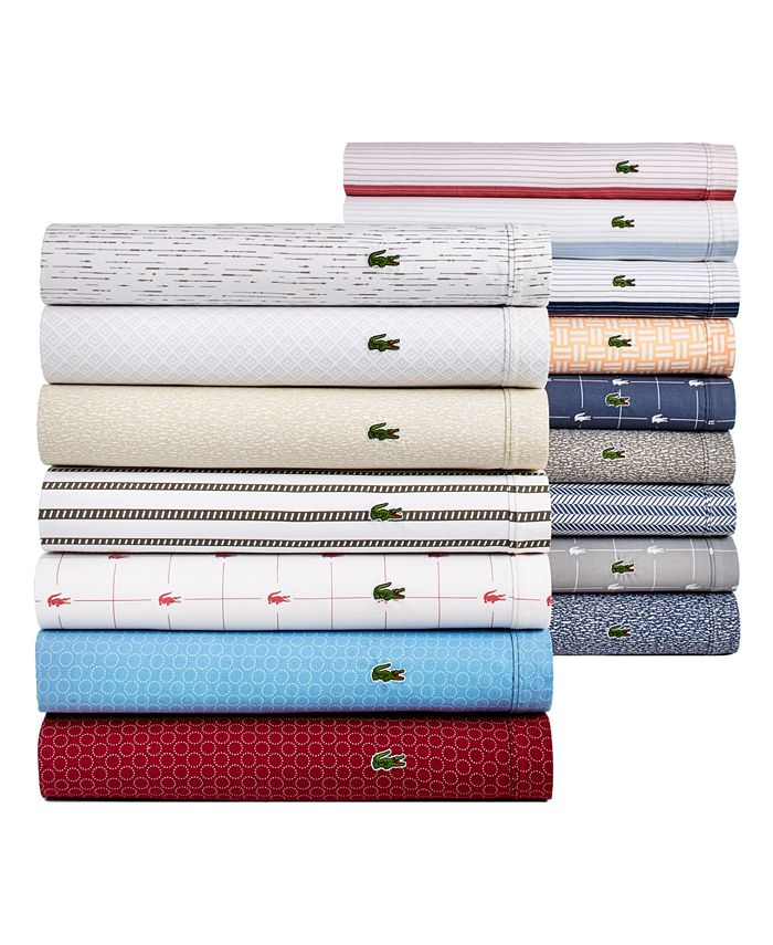 Lacoste Home - Printed Percale Sheet Sets