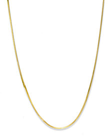 "Giani Bernini 18K Gold over Sterling Silver Necklace, 16"" Thin Snake Chain Necklace"