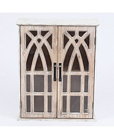 Double Door Wood Mounted Wall Cabinet