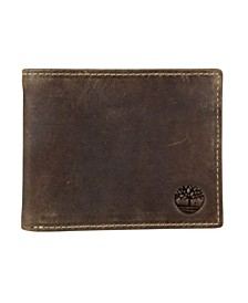 Distressed Leather Passcase Wallet