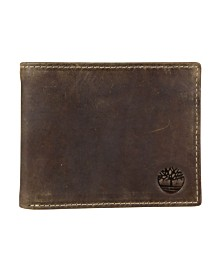Timberland Distressed Leather Passcase Wallet