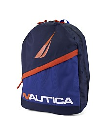 Nautica J-Class Color Block Diagonal Zip Backpack