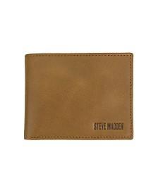 Steve Madden Milled Edge Stitch Billfold Wallet