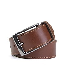 Edge Stitch Casual Belt with Tab