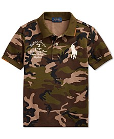 Little Boys Big Pony Camo Cotton Mesh Polo Shirt