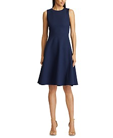 Lauren Ralph Lauren Petite Sleeveless Ponte Fit & Flare Dress