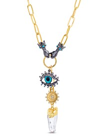 Steve Madden Evil Eye and Hands Pendant Necklace