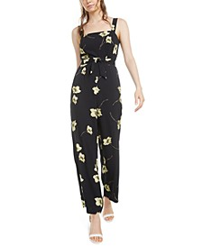 Floral Tie-Waist Jumpsuit, Created for Macy's