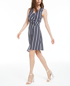 Bar III Asymmetrical Striped Dress, Created for Macy's