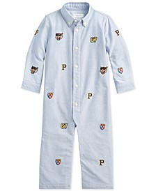 Baby Boys Oxford Cotton Coverall