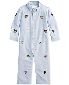 Polo Ralph Lauren Baby Boys Oxford Cotton Coverall