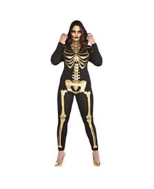 Amscan 24 Carat Bones Adult Women's Costume - Plus Size
