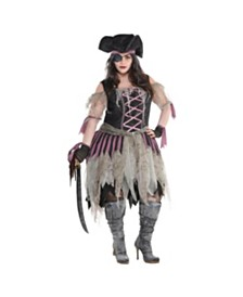 Amscan Haunted Pirate Wench Adult Women's Costume - Plus Size